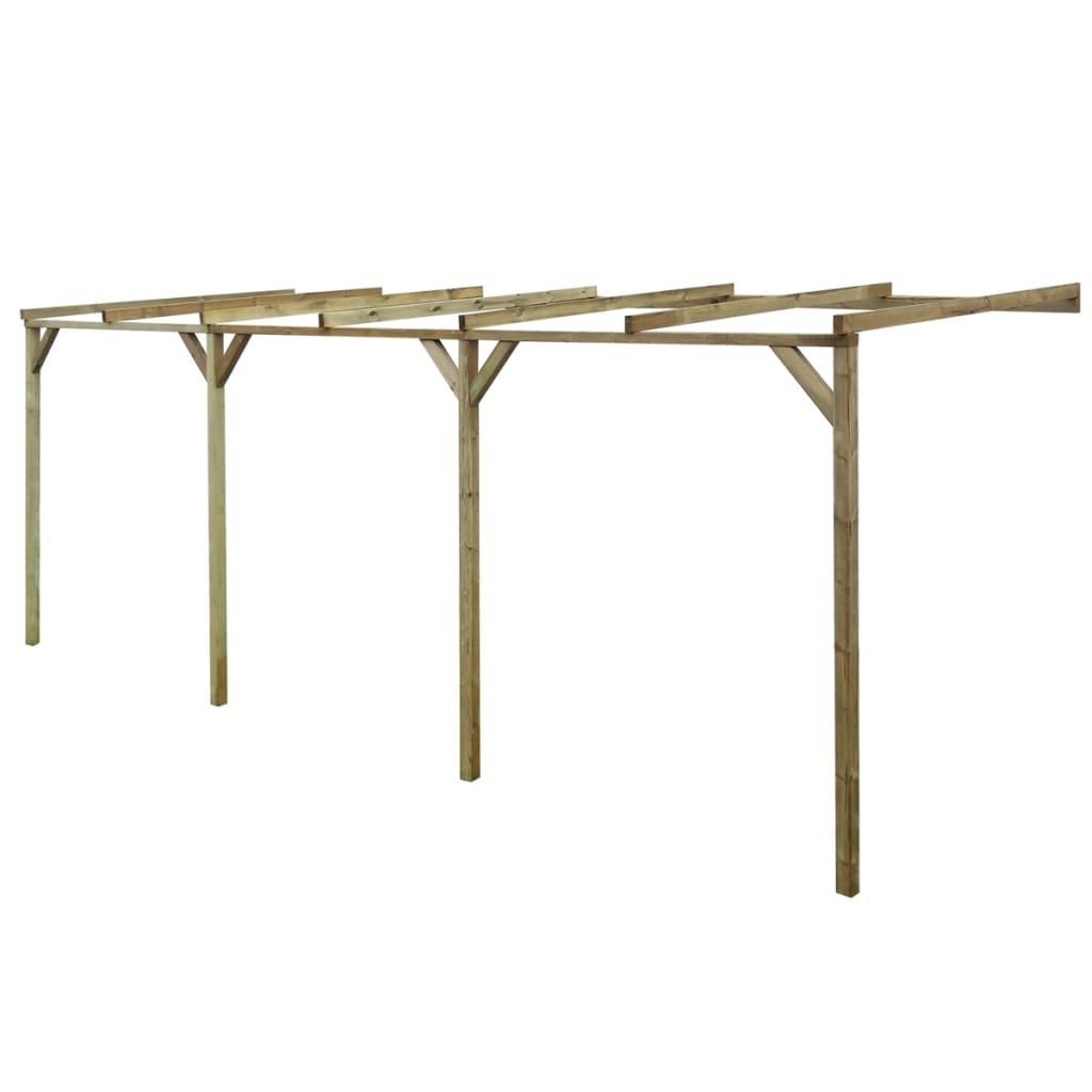 vidaXL Pergolă de perete, 2 x 6 x 2,2 m, lemn vidaxl.ro