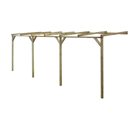 vidaXL Lean-To Pergola 2x6x2.2 m Wood