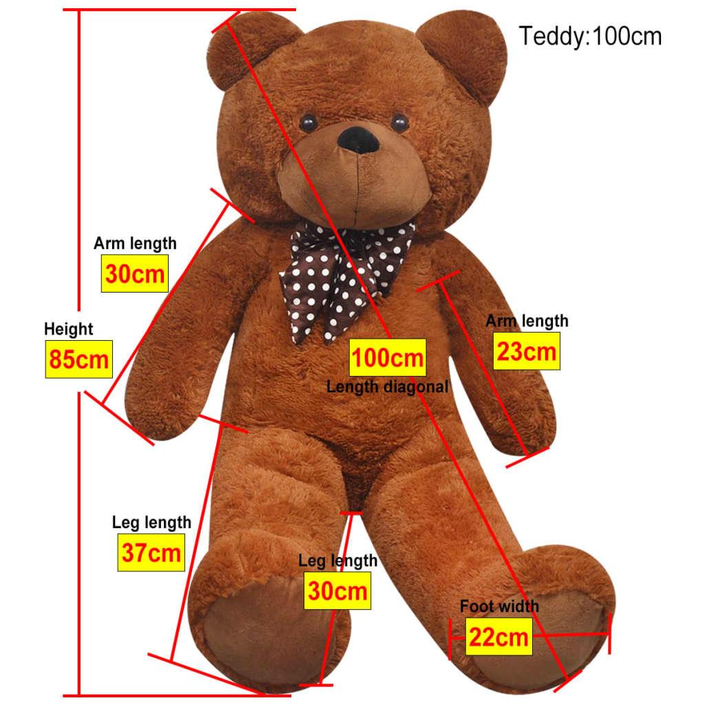 XXL měkký plyšový medvídek na hraní hnědý 85 cm