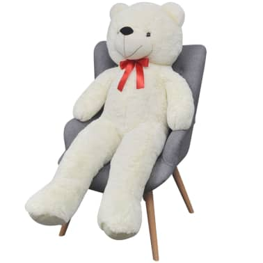 XXL Soft Plush Teddy Bear Toy White 100 cm[2/5]