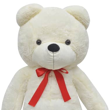 XXL Soft Plush Teddy Bear Toy White 100 cm[4/5]