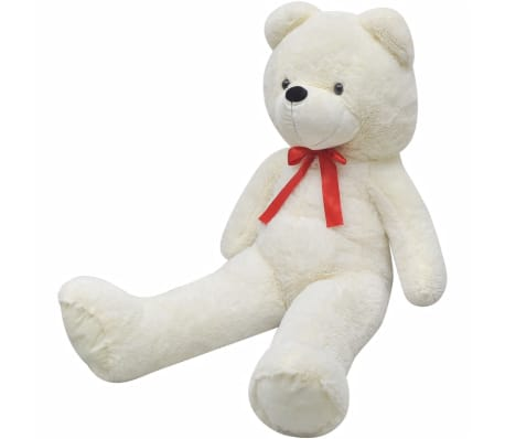vidaXL XXL Soft Plush Teddy Bear Toy White 135 cm