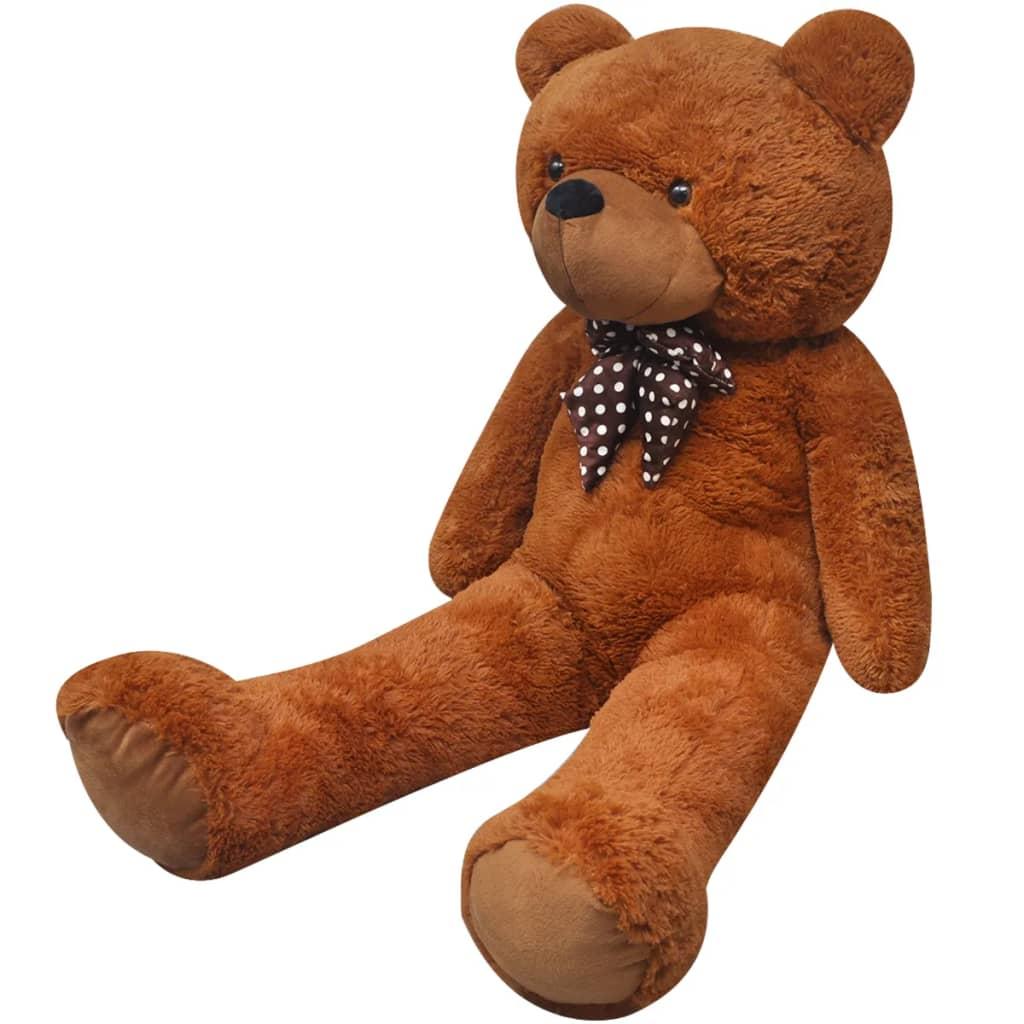 XXL měkký plyšový medvídek na hraní hnědý 175 cm