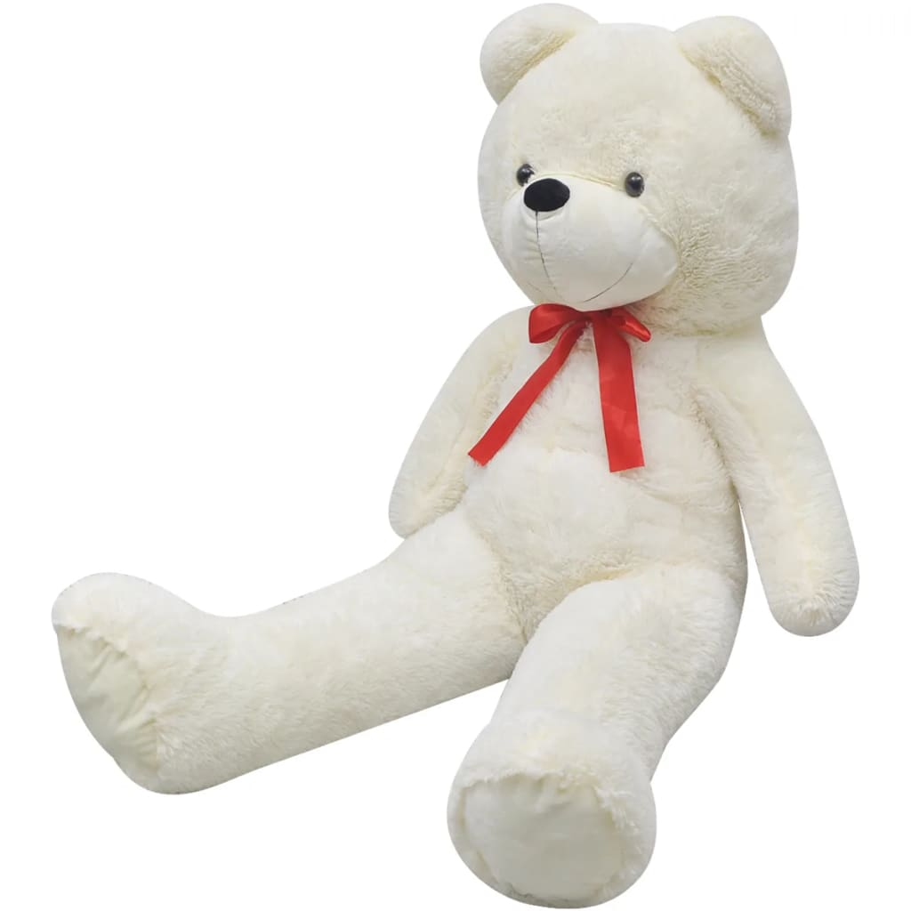 vidaXL XXL Soft Plush Teddy Bear Toy White 175 cm