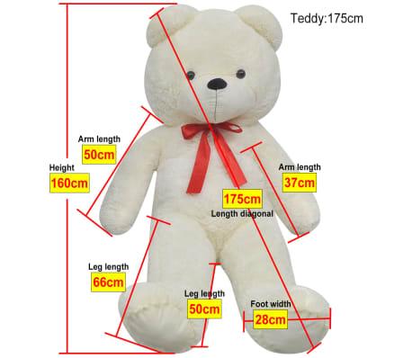 XXL Plišasta igrača medvedek bele barve 175 cm[5/5]