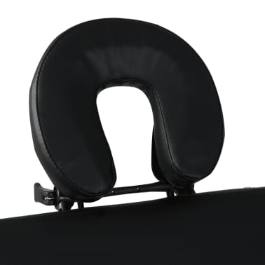 Black Foldable Massage Table 2 Zones with Wooden Frame[4/8]