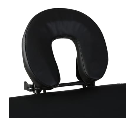 Black Foldable Massage Table 3 Zones with Wooden Frame[4/8]