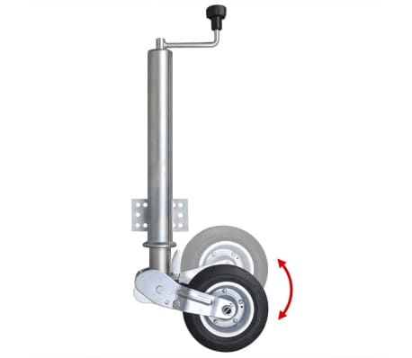 """vidaXL 2.4"""" Heavy-duty Folding Jockey Wheel[2/4]"""