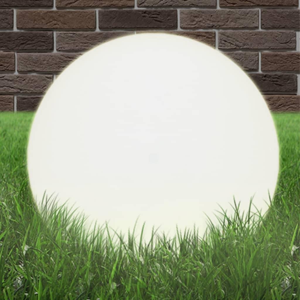 Lampă de grădină sferică, PMMA, 50 cm, soclu E27 poza vidaxl.ro
