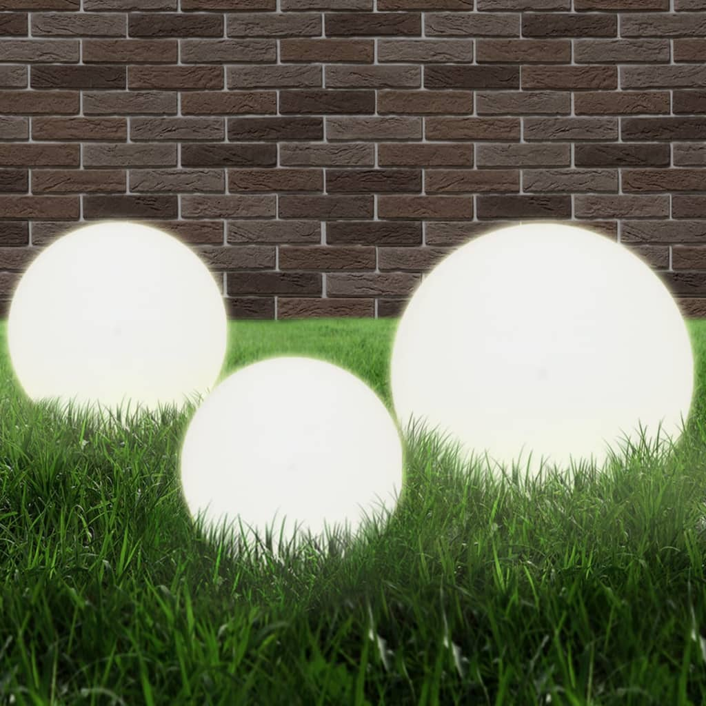 Kulovitá zahradní lampa E27 20/30/40 cm PMMA