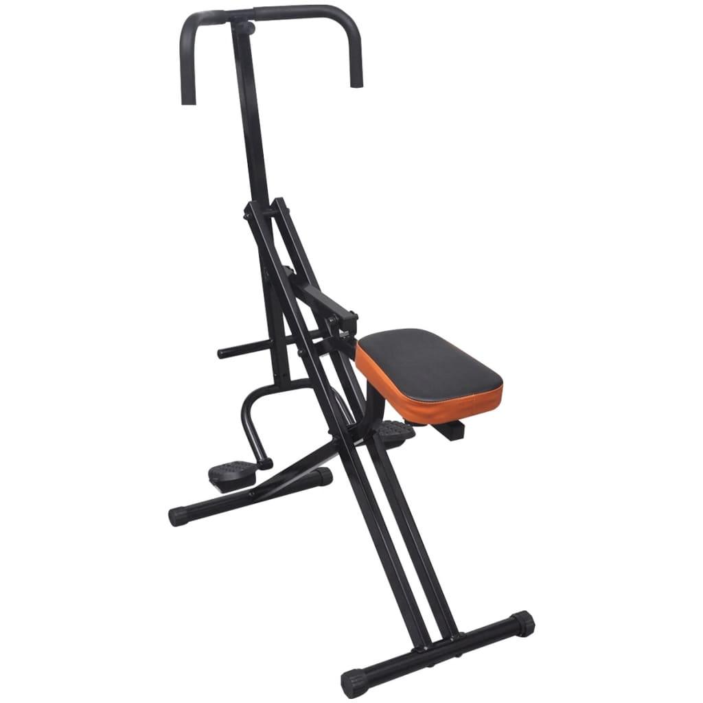 Sklopný břišní cvičební stroj černý / oranžový