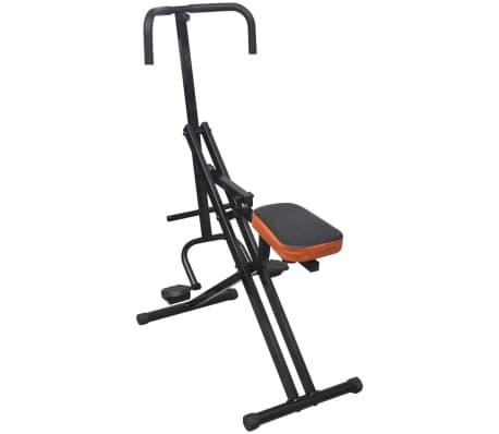 Faltbarer Reit-Heimtrainer Bauchtrainer Fitnessgerät Schwarz/Orange[1/4]
