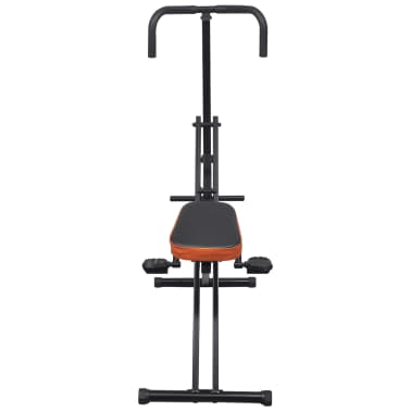 Faltbarer Reit-Heimtrainer Bauchtrainer Fitnessgerät Schwarz/Orange[3/4]