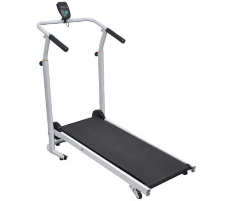 vidaXL Mini Treadmill Folding 93x36 cm Black[1/7]