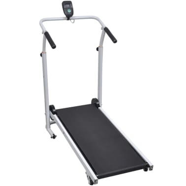 vidaXL Mini Treadmill Folding 93x36 cm Black[2/7]