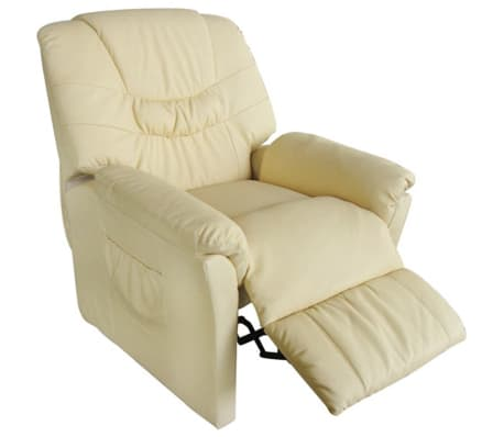 vidaXL Electric Massage Chair Cream Artificial Leather[1/6]