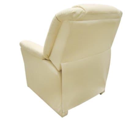 vidaXL Electric Massage Chair Cream Artificial Leather[5/6]