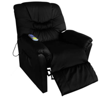 Electric Artificial Leather Massage Chair Black[1/5]