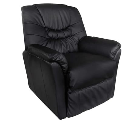 Electric Artificial Leather Massage Chair Black[2/5]