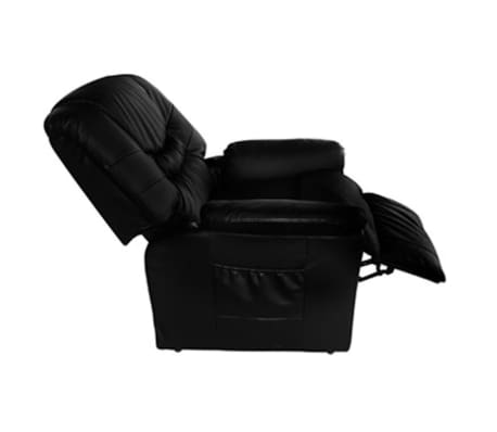 Electric Artificial Leather Massage Chair Black[3/5]