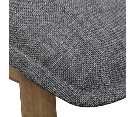 vidaXL Dining Chairs 2 pcs Dark Gray Fabric and Solid Oak Wood[6/6]