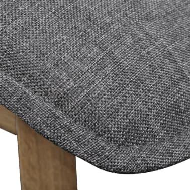 vidaXL Dining Chairs 4 pcs Dark Gray Fabric and Solid Oak Wood[6/6]