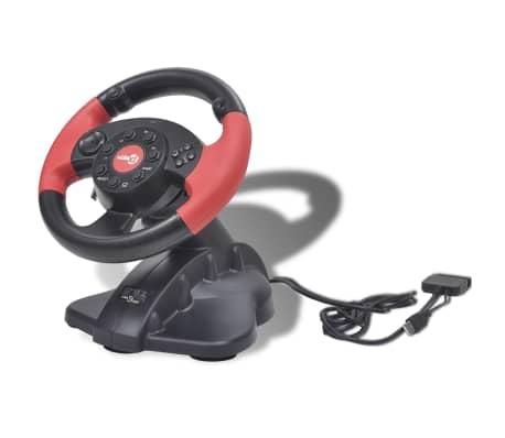 Žaidimų Vairas PS2/PS3/PC, Raudonas[2/8]