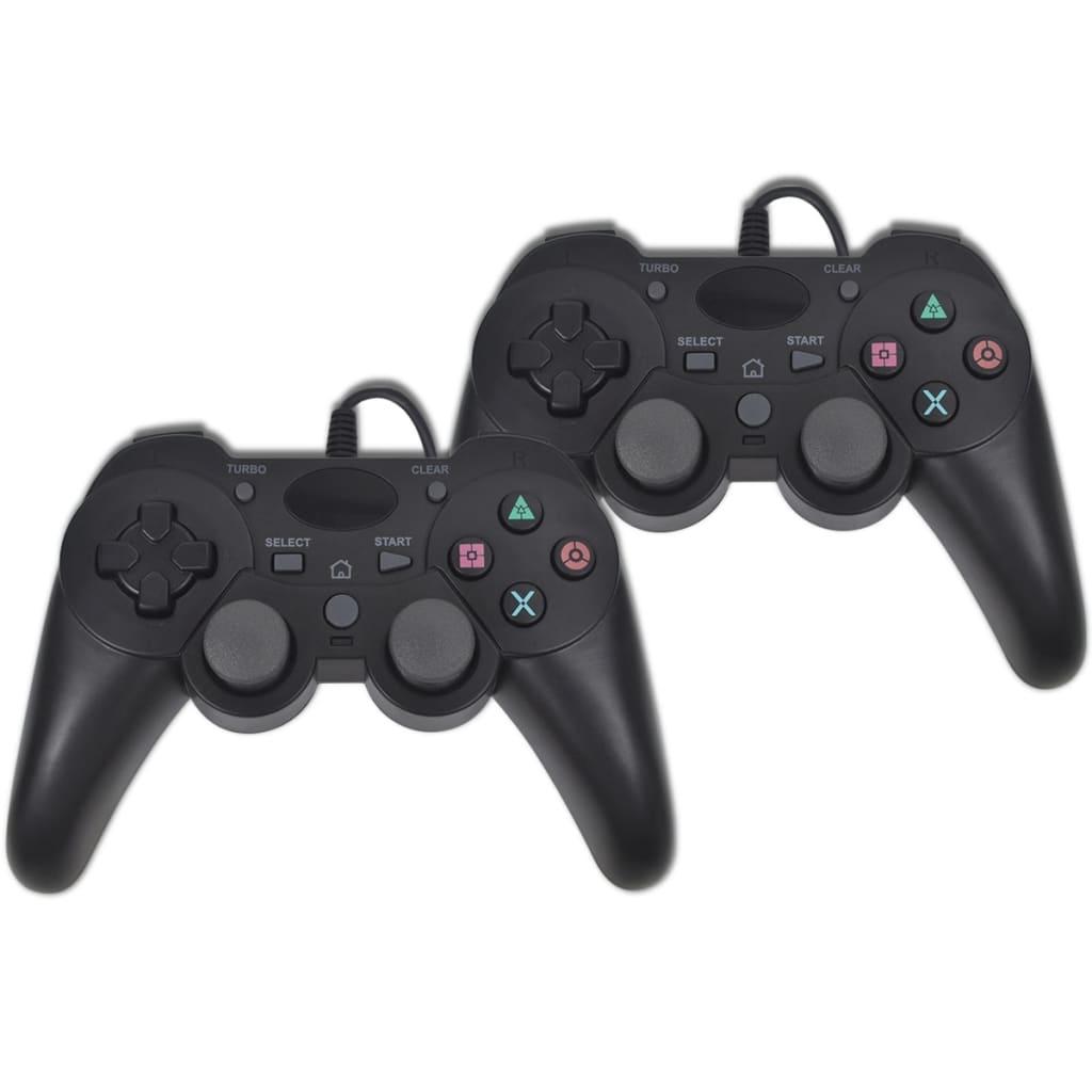Controler cu fir pentru joc PS3, 2 buc imagine vidaxl.ro