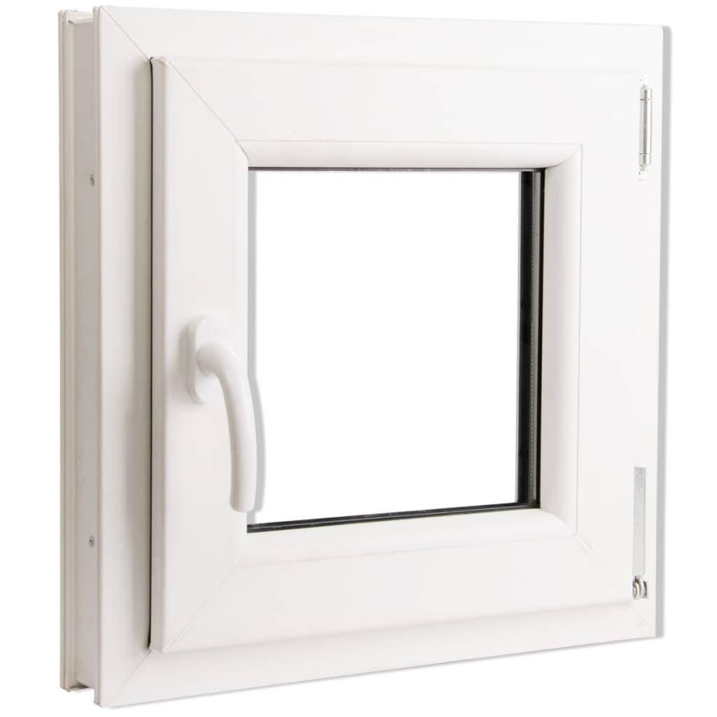 Fereastră batantă PVC, mâner pe stânga și vitraj triplu, 500 x 500 mm vidaxl.ro