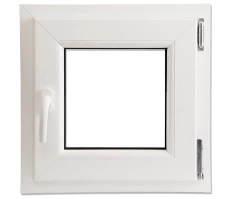 Finestra anta ribalta pvc triplo vetro manico a sinistra 500 x 500 mm - Finestra anta ribalta ...