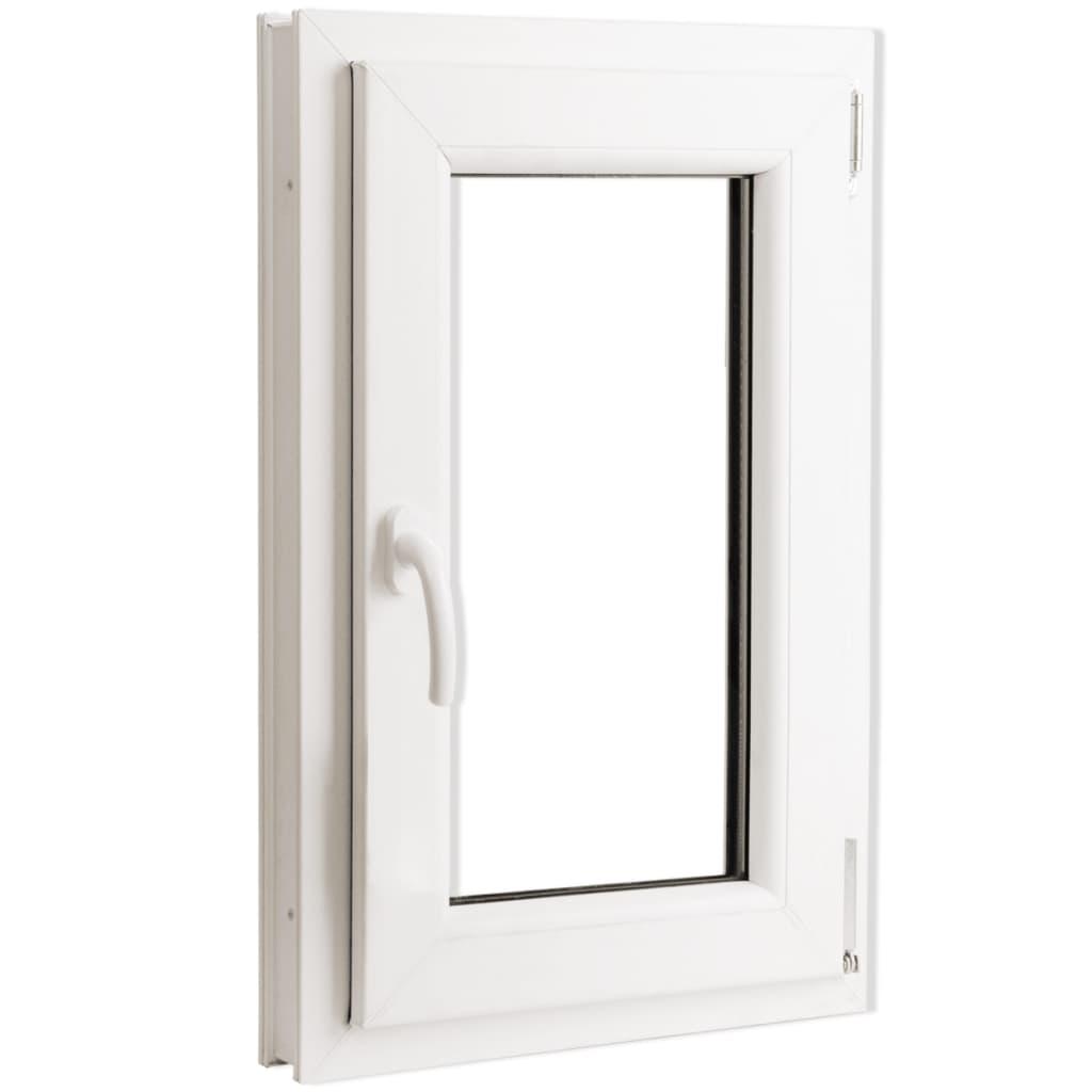 Otevíravě-sklopné okno, trojité sklo, PVC, klika vlevo, 500 x 750 mm