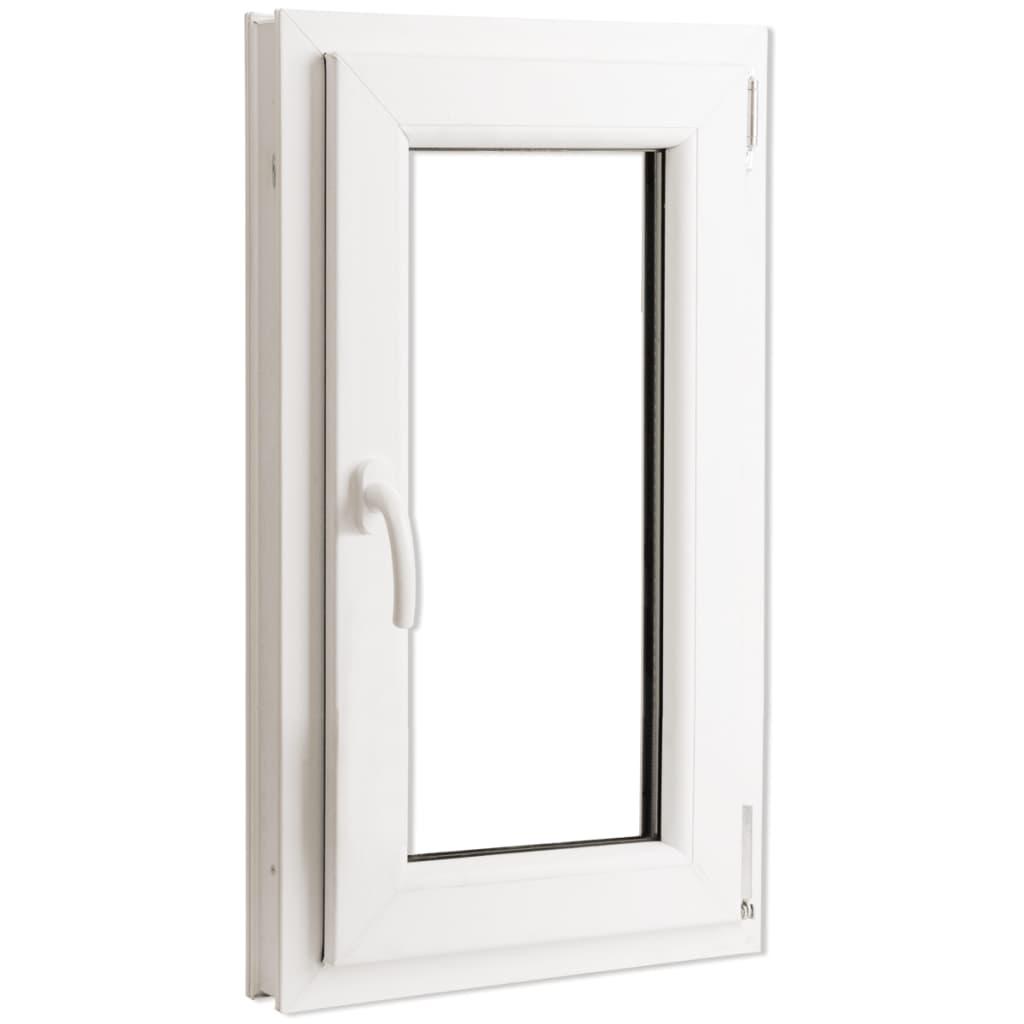 Otevíravě-sklopné okno, trojité sklo, PVC, klika vlevo, 600 x 1000 mm