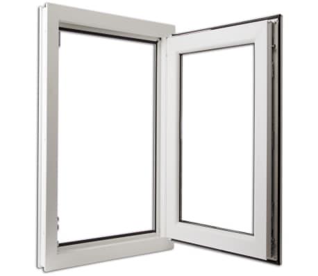 Finestra anta ribalta pvc triplo vetro manico a sinistra 600 x 1000 mm - Finestra anta ribalta ...