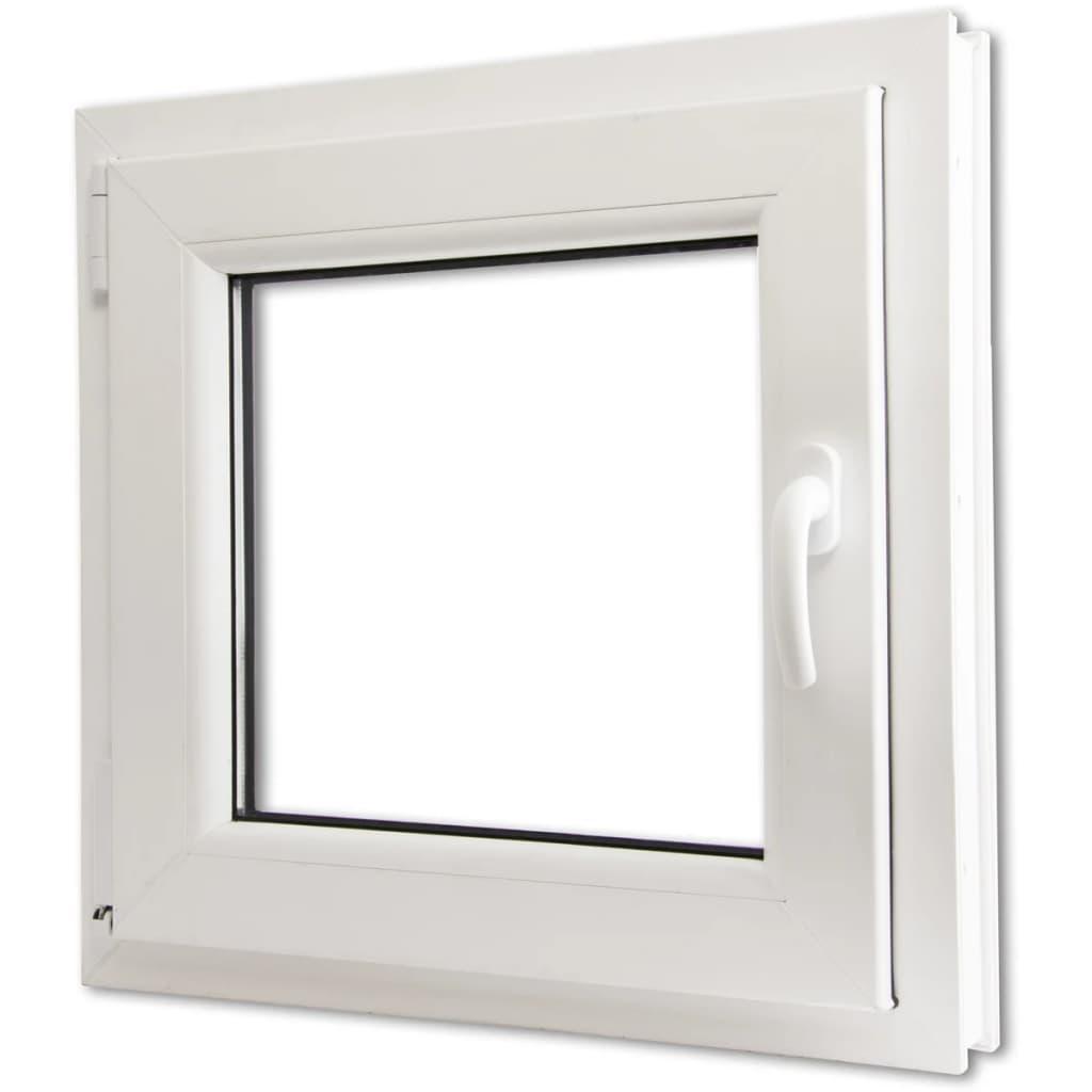 Fereastră oscilobatantă PVC, 3 foi sticlă, mâner dreapta, 600 x 600 mm vidaxl.ro