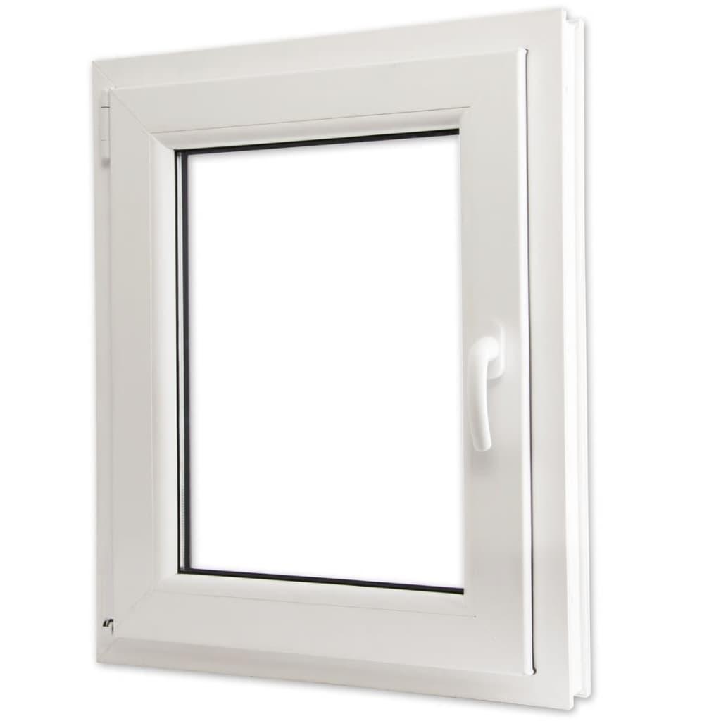 Otevíravě-sklopné okno, trojité sklo, PVC, klika vpravo, 600 x 800 mm