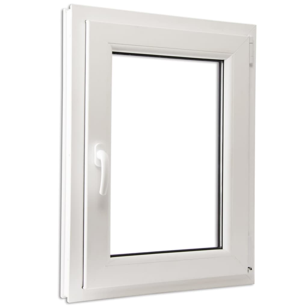 Otevíravě-sklopné okno, trojité sklo, PVC, klika vlevo, 600 x 900 mm