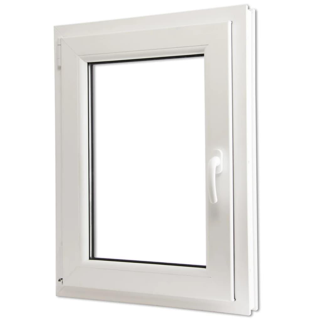 Otevíravě-sklopné okno, trojité sklo, PVC, klika vpravo, 600 x 900 mm