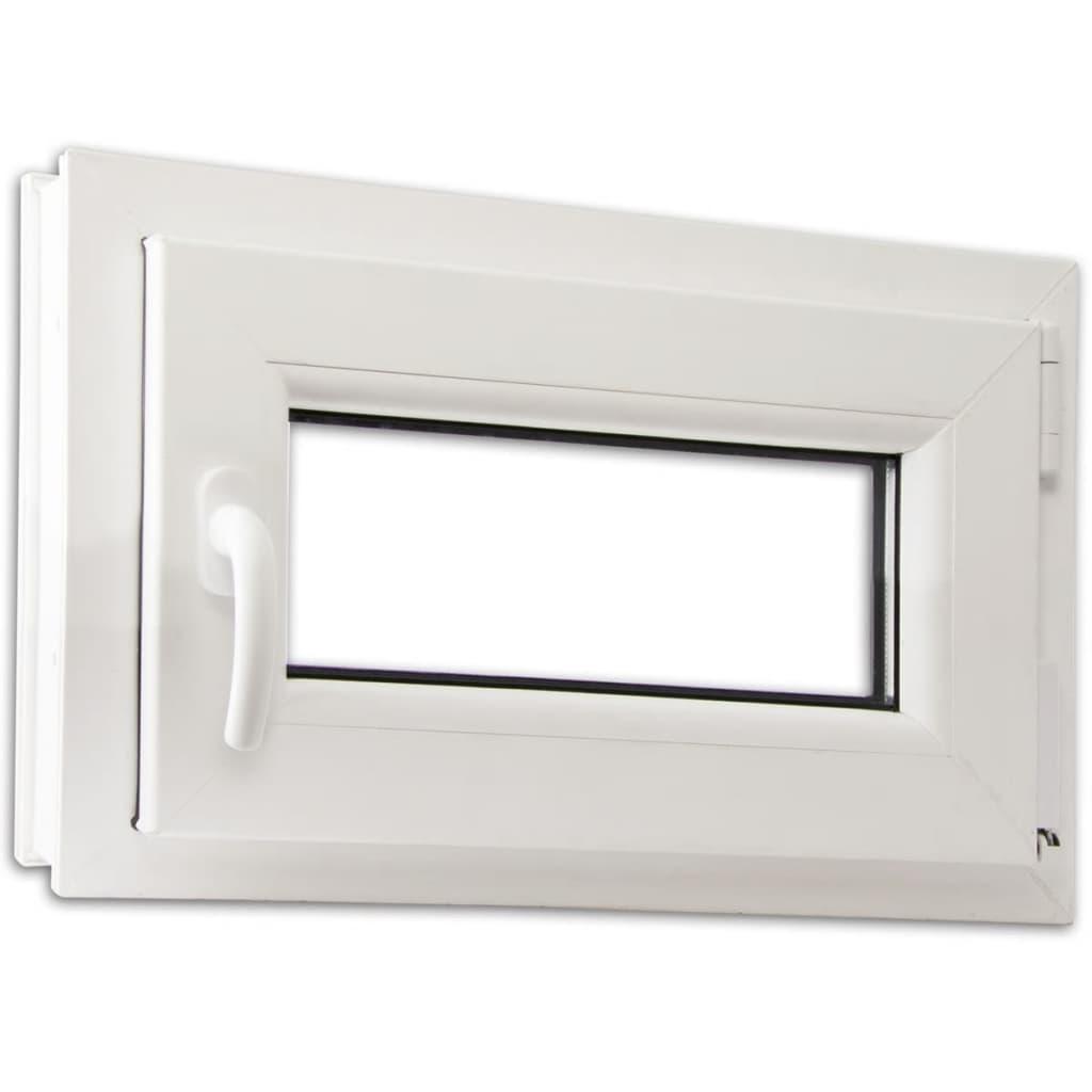 Fereastră batantă PVC, mâner pe stânga și vitraj triplu, 600 x 400 mm vidaxl.ro