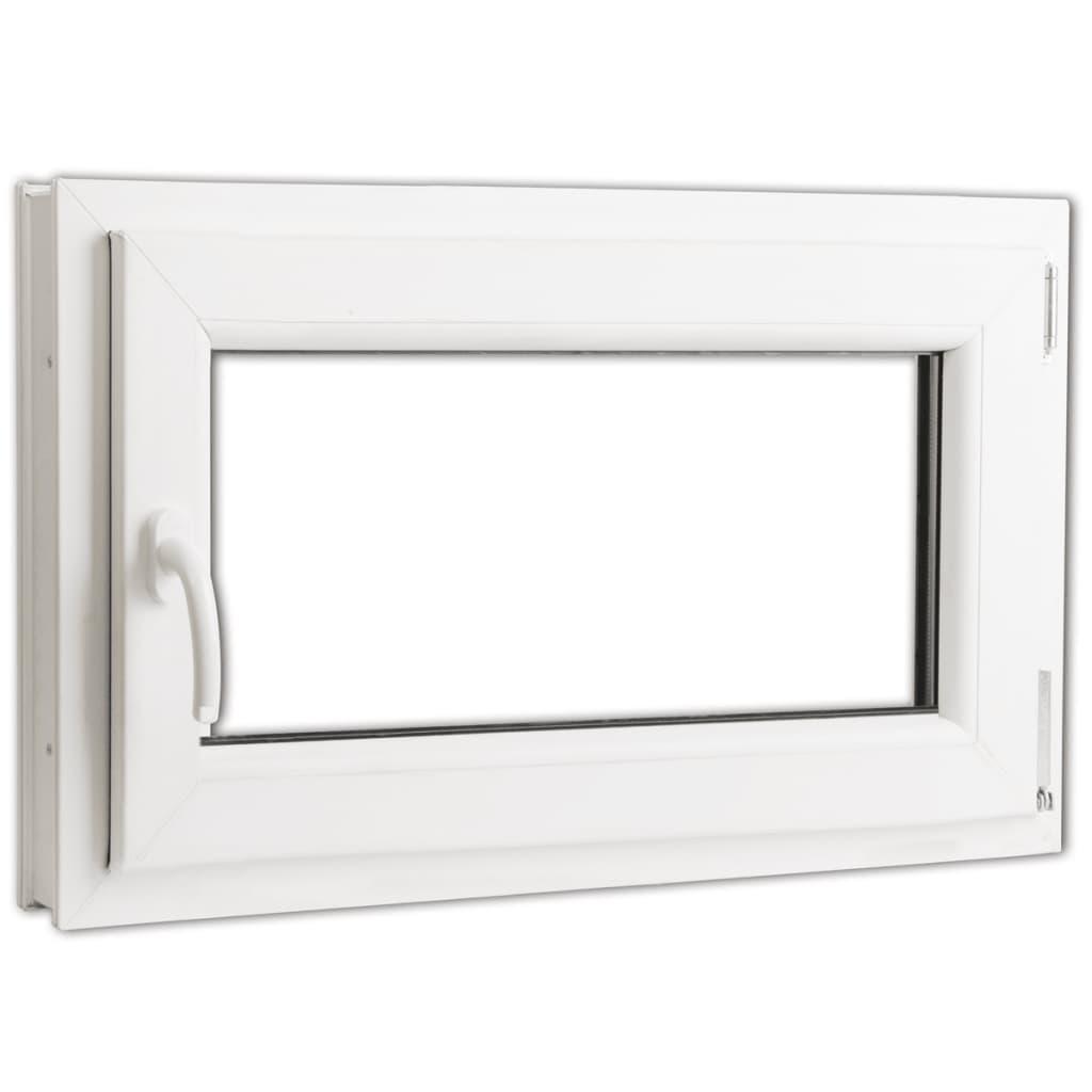 Otevíravě-sklopné okno, trojité sklo, PVC, klika vlevo, 800 x 500 mm