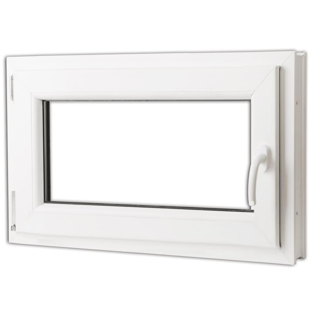 Otevíravě-sklopné okno, trojité sklo, PVC, klika vpravo, 800 x 500 mm