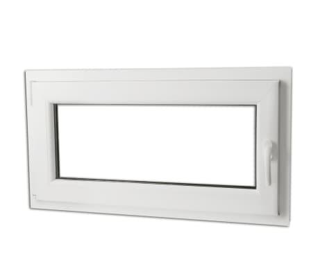 fen tre pvc triple vitrage oscillo battante poign e droite 900x500mm. Black Bedroom Furniture Sets. Home Design Ideas