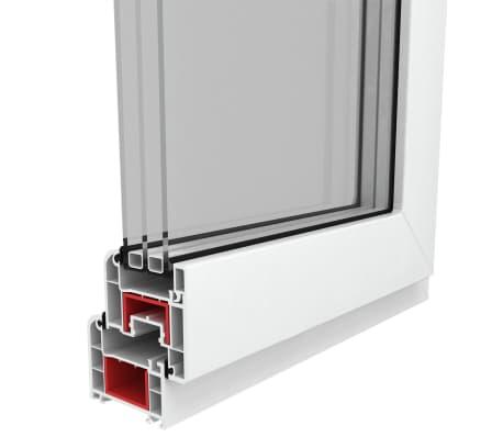 acheter fen tre pvc triple vitrage oscillo battante poign e droite 900x500mm pas cher. Black Bedroom Furniture Sets. Home Design Ideas