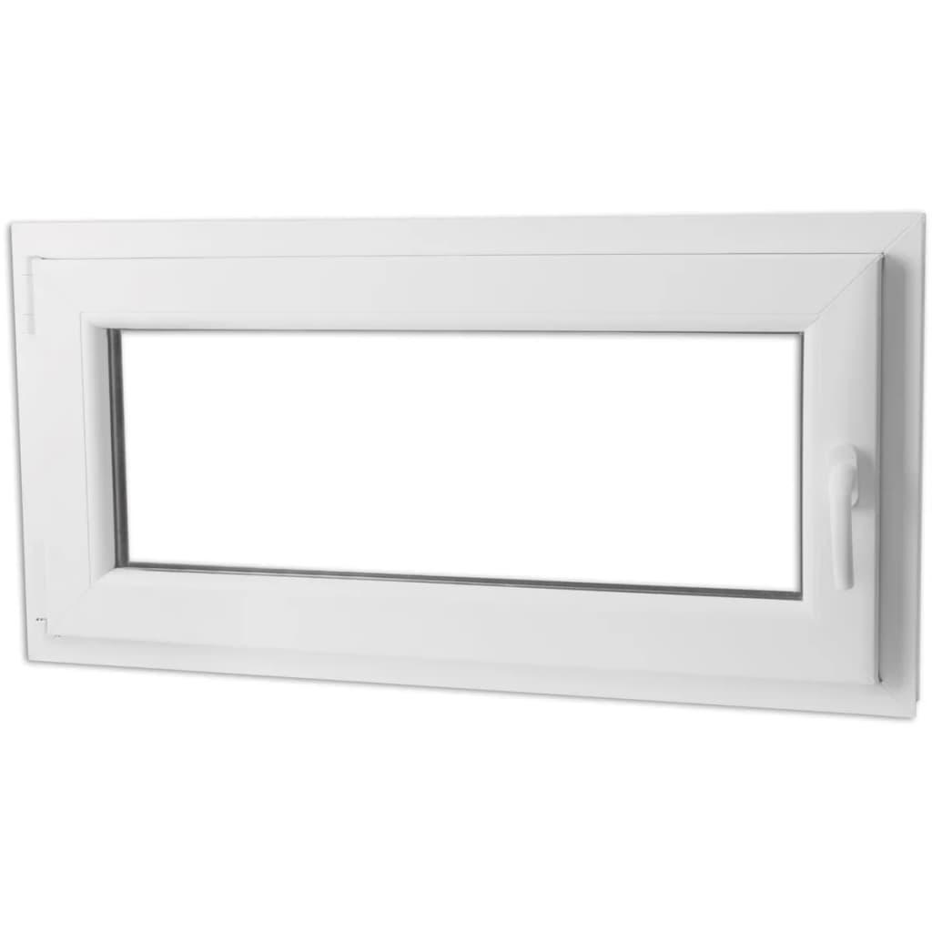 Fereastră batantă PVC vitraj triplu și mâner pe dreapta, 1000 x 500 mm vidaxl.ro
