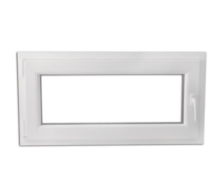 Finestra anta ribalta pvc triplo vetro manico a destra 1000 x 500 mm - Finestra anta ribalta ...