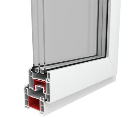 Fen tre pvc triple vitrage oscillo battante poign e for Stock finestre pvc