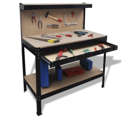 Workbench with Pegboard and Drawer[1/5]