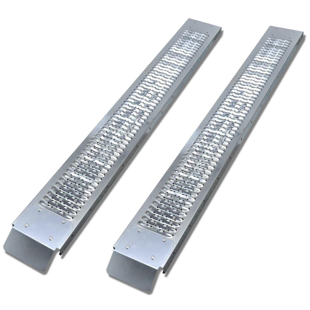 vidaXL 2 ocelové nakládací rampy 450 kg