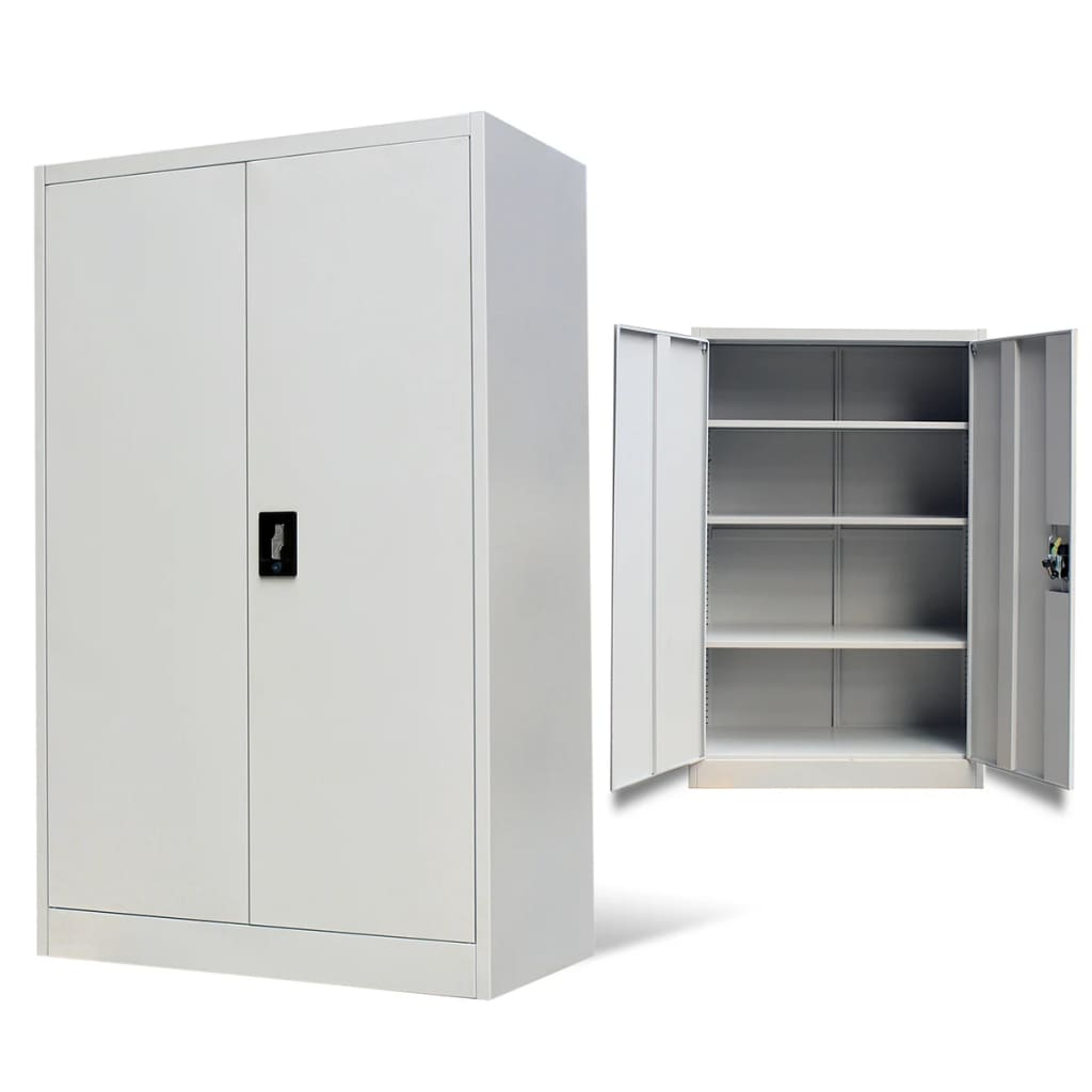 vidaxl-metal-office-cabinet-2-doors-140-cm-grey