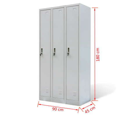 Metal Locker Cabinet Storage Gym Bathroom Hanger Mirror Card Holder 3/6/9  Doors