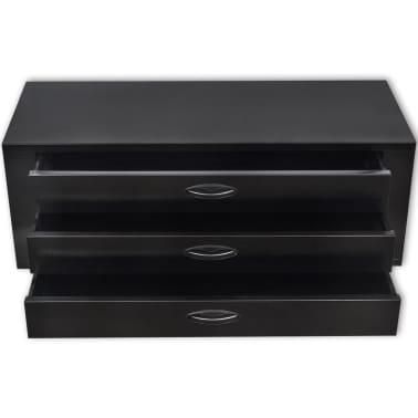 vidaXL Cajón de herramientas de metal con 3 cajones negro[2/4]